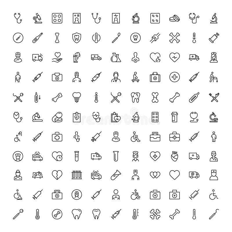 Icono plano ortodóntico stock de ilustración