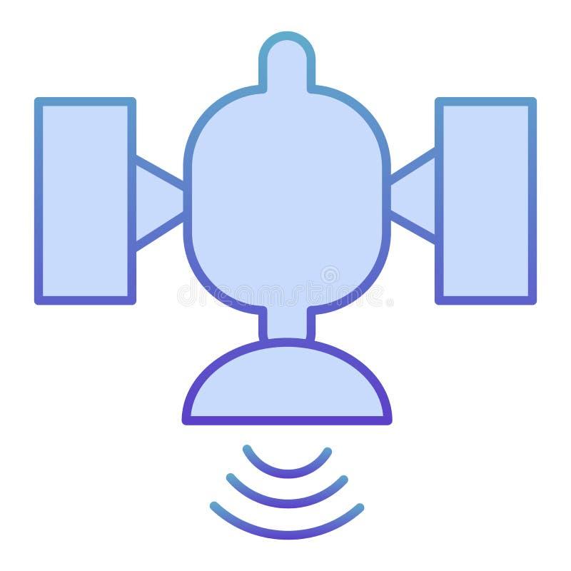 Icono plano por sat?lite. Iconos azules de conexión global en estilo plano moderno. Diseño de estilo degradado de concepto de di ilustración del vector