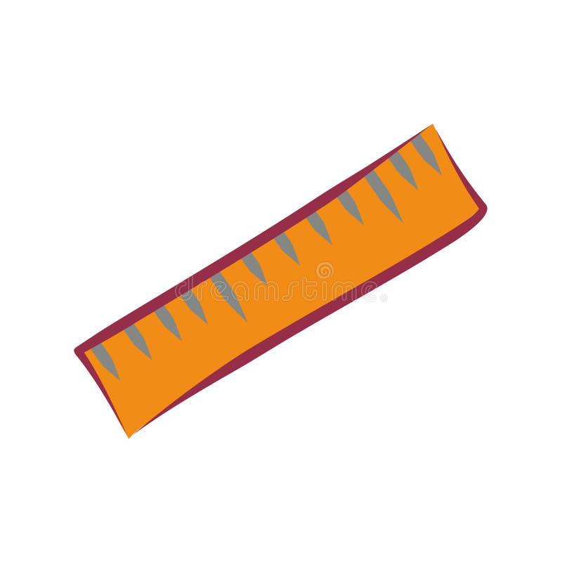 Icono plano simple de la regla del vector ilustración del vector