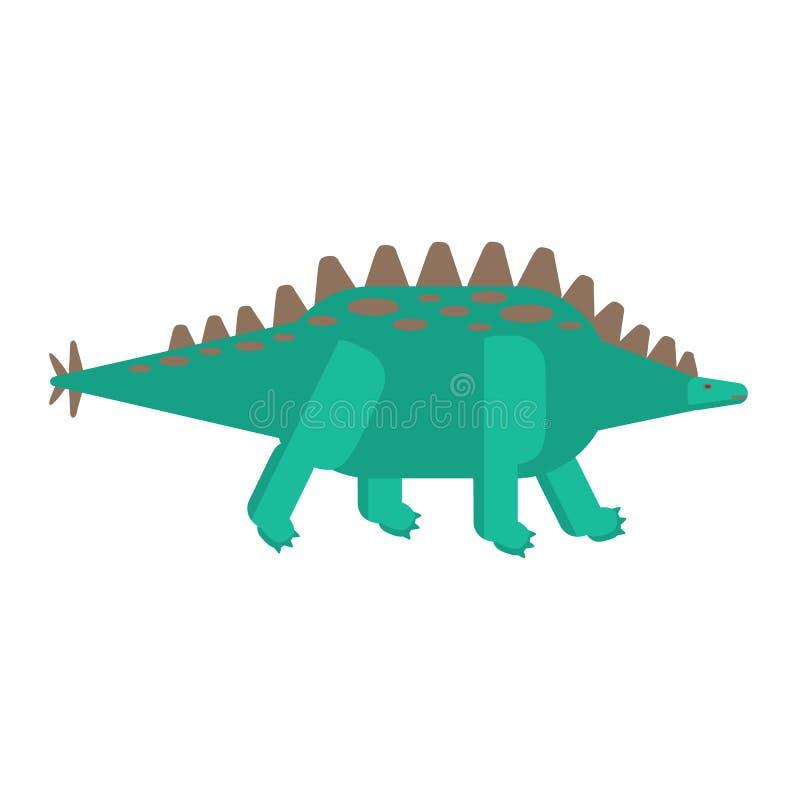 Icono plano simple del estilo del Stegosaurus Pictograma del dinosaurio para la impresión en la camiseta o la tarjeta del diseño ilustración del vector