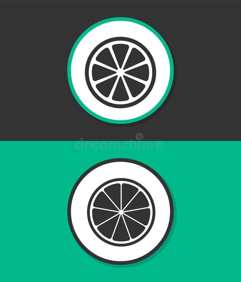 Icono plano simple del vector foto de archivo
