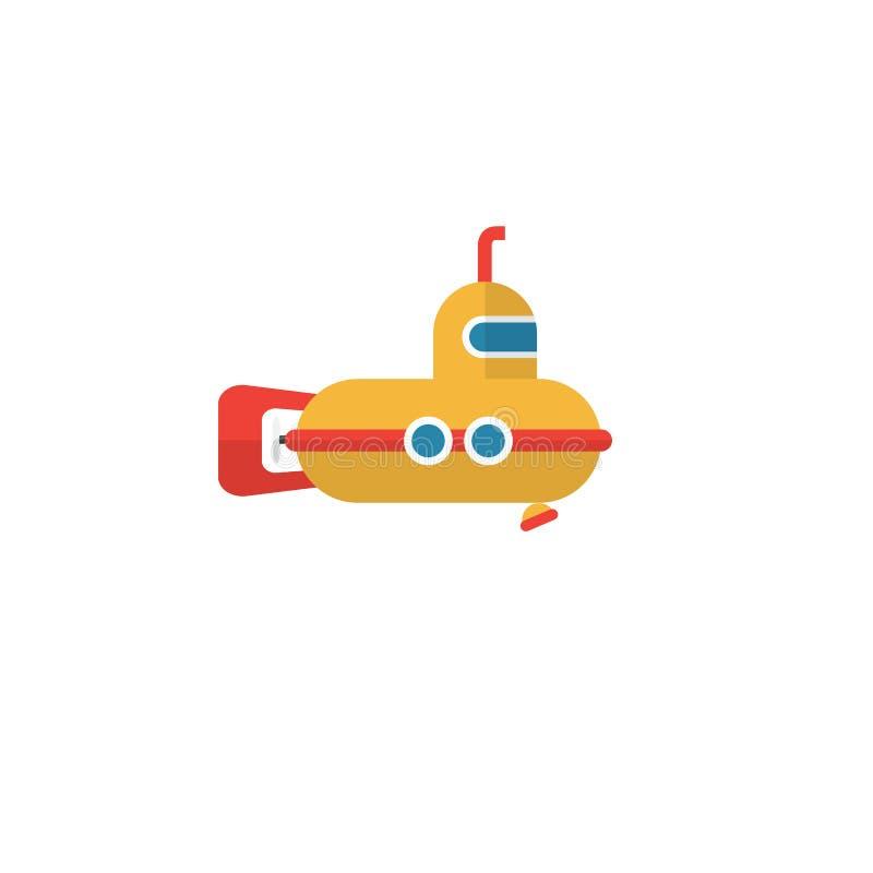 Icono plano submarino El elemento del vector del periscopio se puede utilizar para el periscopio, submarino, concepto de diseño s stock de ilustración