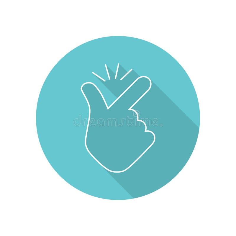 Icono plano y fácil de usar con el dedo rápido libre illustration