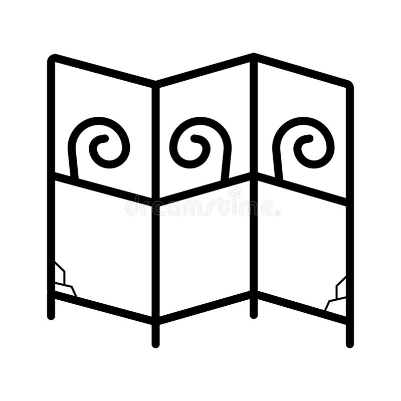 Icono plegable de la pantalla ilustración del vector