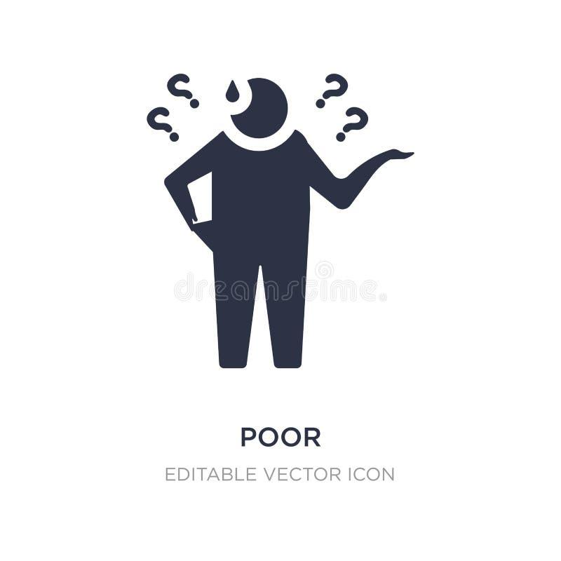 icono pobre en el fondo blanco Ejemplo simple del elemento del concepto general stock de ilustración