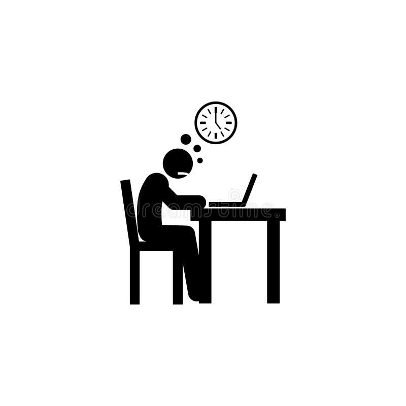 icono poco entusiasta Elemento del icono negativo del carácter del hombre para los apps móviles del concepto y del web El icono p libre illustration