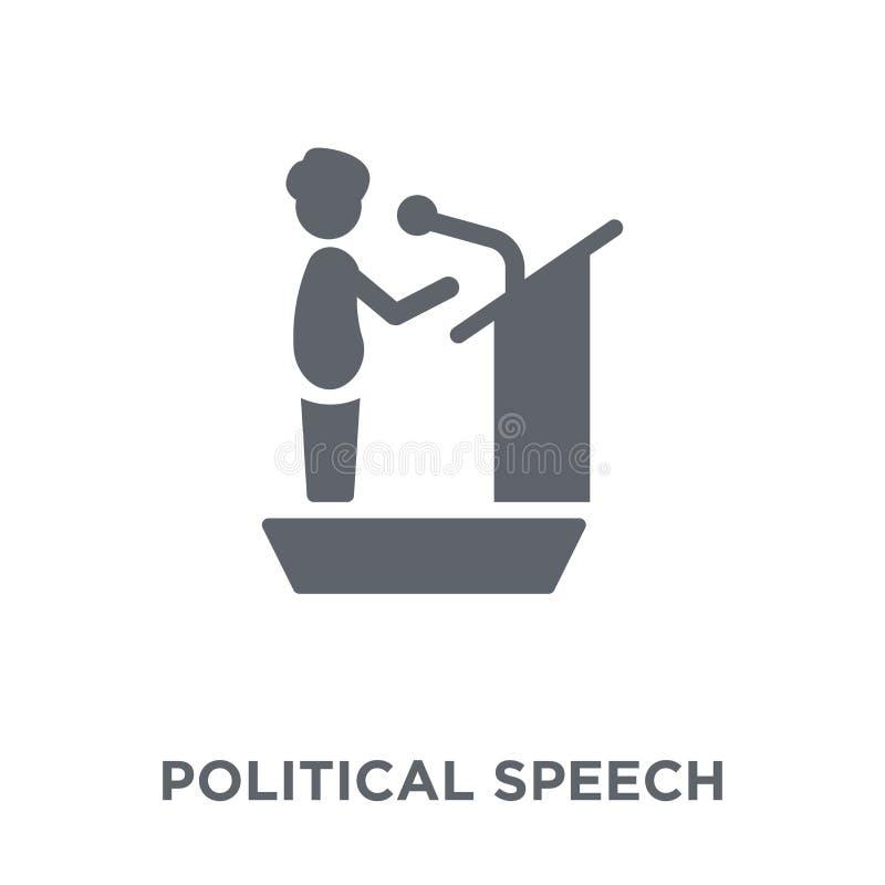icono político del discurso de la colección política stock de ilustración