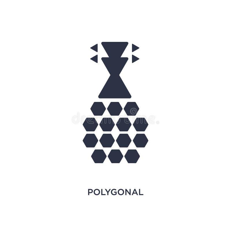 icono poligonal de la guitarra de los triángulos en el fondo blanco Ejemplo simple del elemento del concepto de la geometría libre illustration