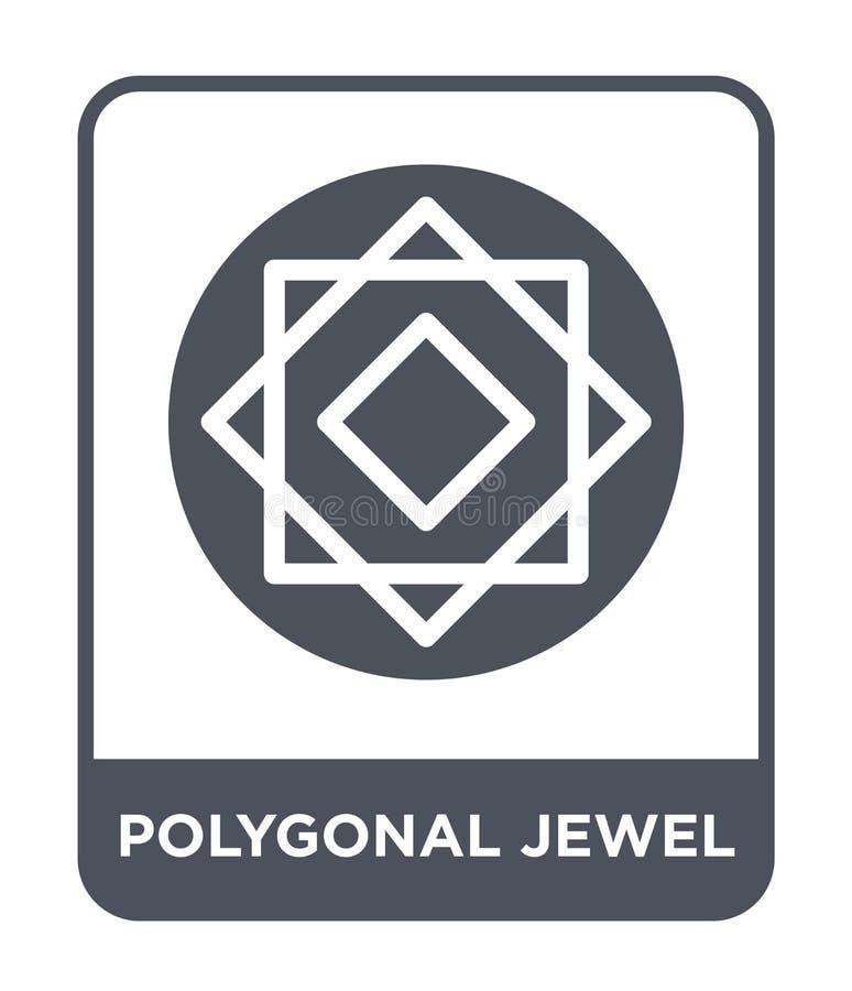 icono poligonal de la joya en estilo de moda del diseño icono poligonal de la joya aislado en el fondo blanco icono poligonal del stock de ilustración