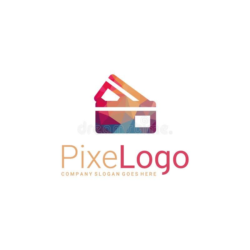 Icono poligonal de la tarjeta de crédito ilustración del vector