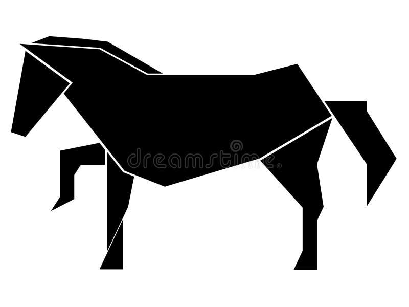 Icono polivinílico bajo abstracto del caballo libre illustration