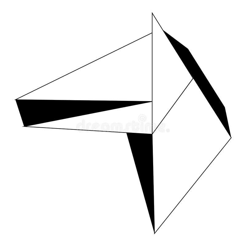 Icono polivinílico bajo abstracto del caballo ilustración del vector