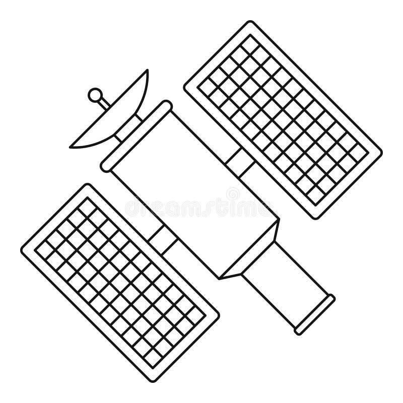 Icono por satélite, estilo del esquema stock de ilustración
