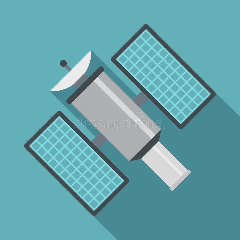 Icono por satélite, estilo plano libre illustration