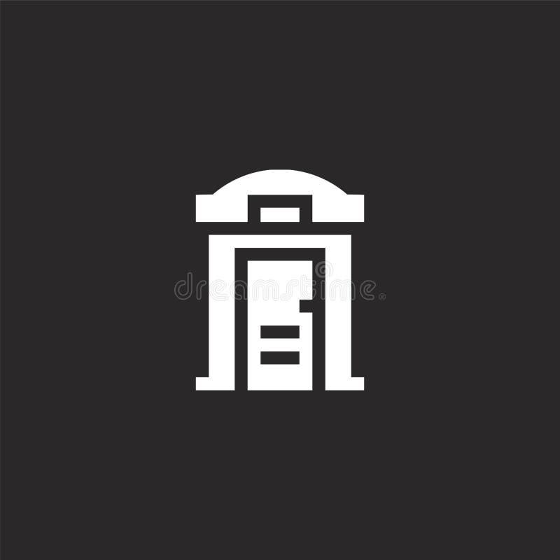 icono portátil del retrete Icono portátil llenado del retrete para el diseño y el móvil, desarrollo de la página web del app icon libre illustration