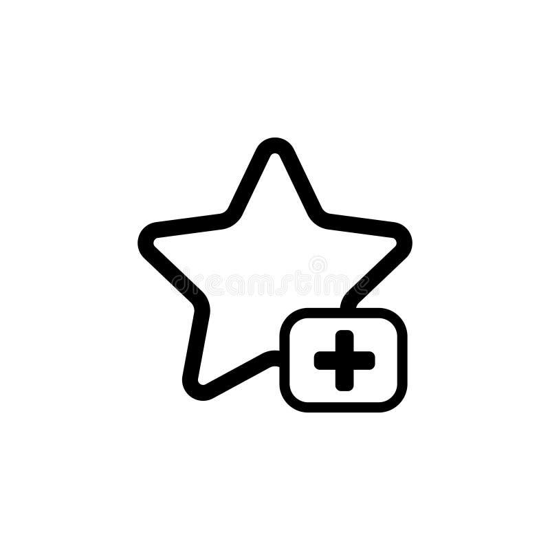 Icono preferido del web de la muestra de la estrella Vector libre illustration