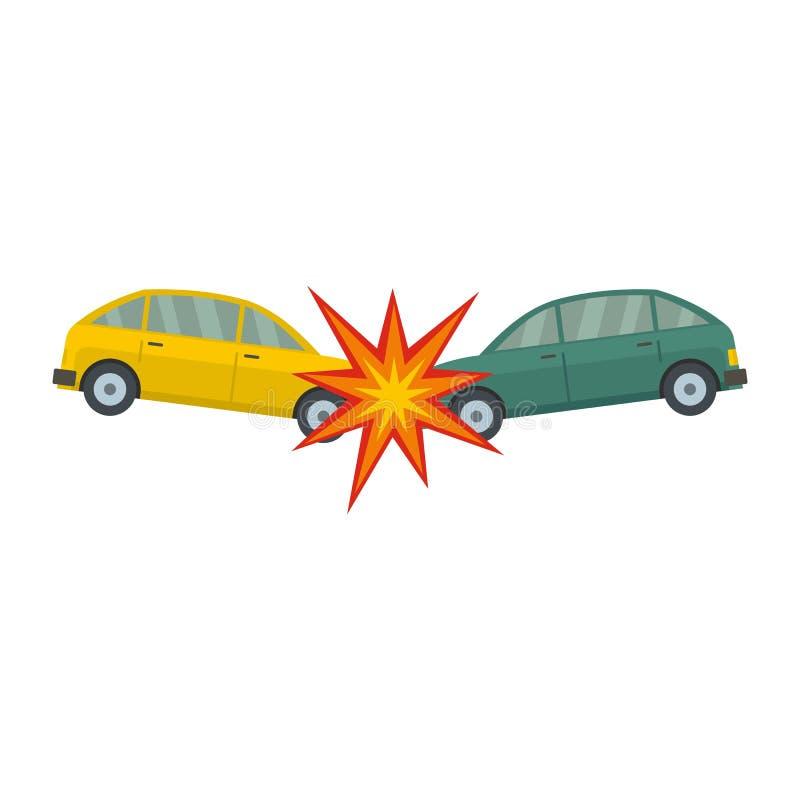 Icono principal de la colisión, estilo plano libre illustration