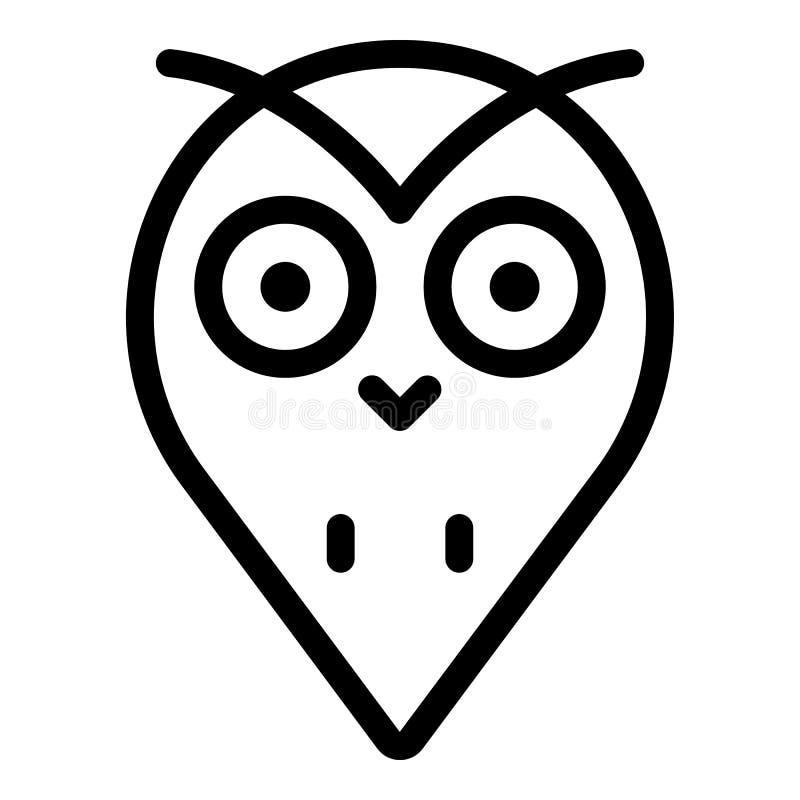 Icono principal de la gota del búho, estilo del esquema libre illustration