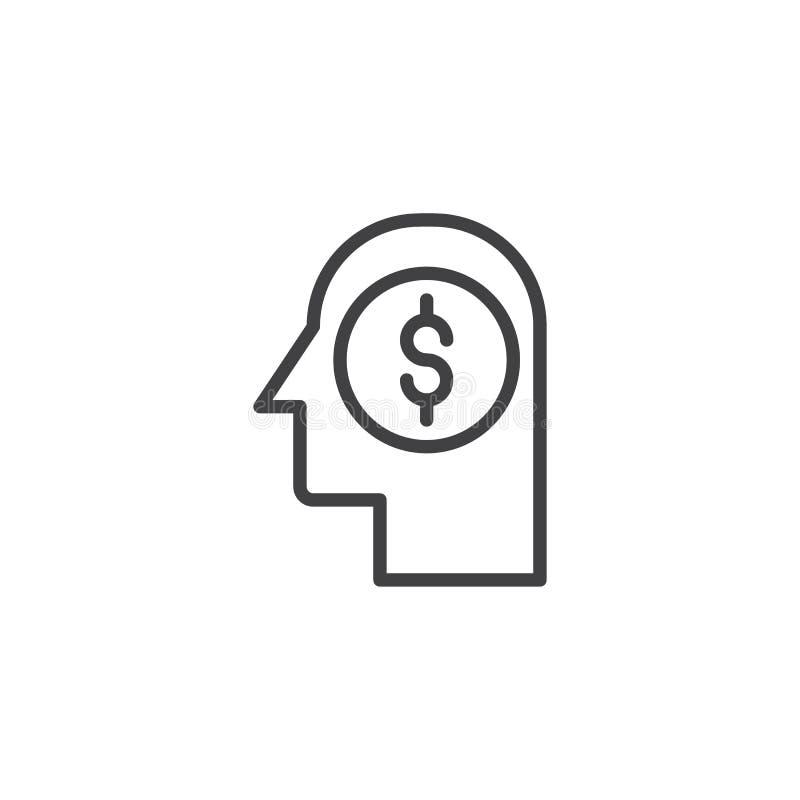 Icono principal del esquema del dinero libre illustration
