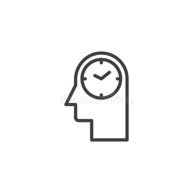 Icono principal del esquema del reloj libre illustration
