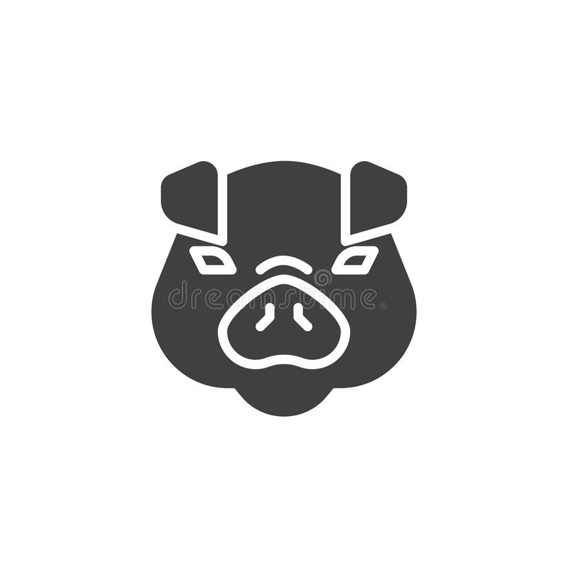 Icono principal del vector del cerdo ilustración del vector