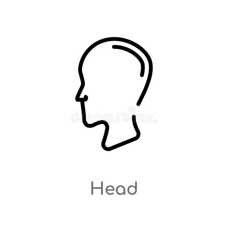 icono principal del vector del esquema línea simple negra aislada ejemplo del elemento del concepto de la interfaz de usuario cab libre illustration