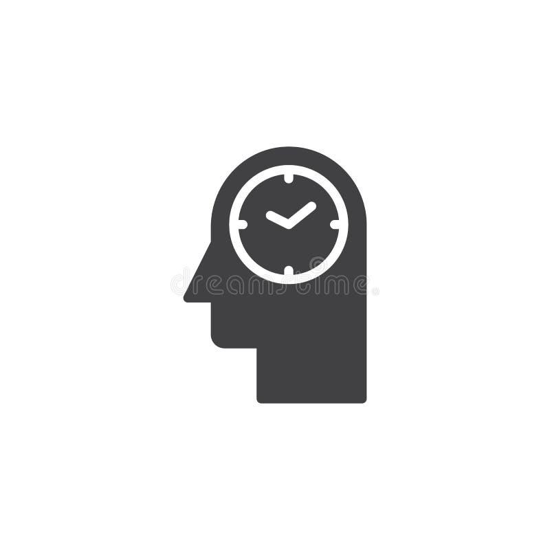 Icono principal del vector del reloj ilustración del vector