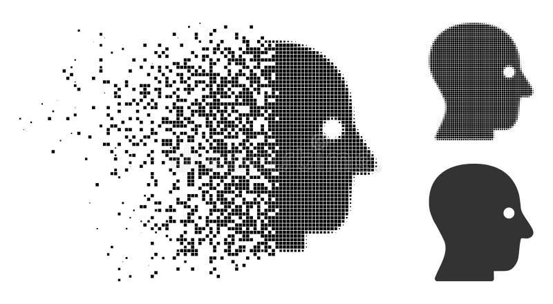 Icono principal silencioso de semitono punteado de mudanza stock de ilustración