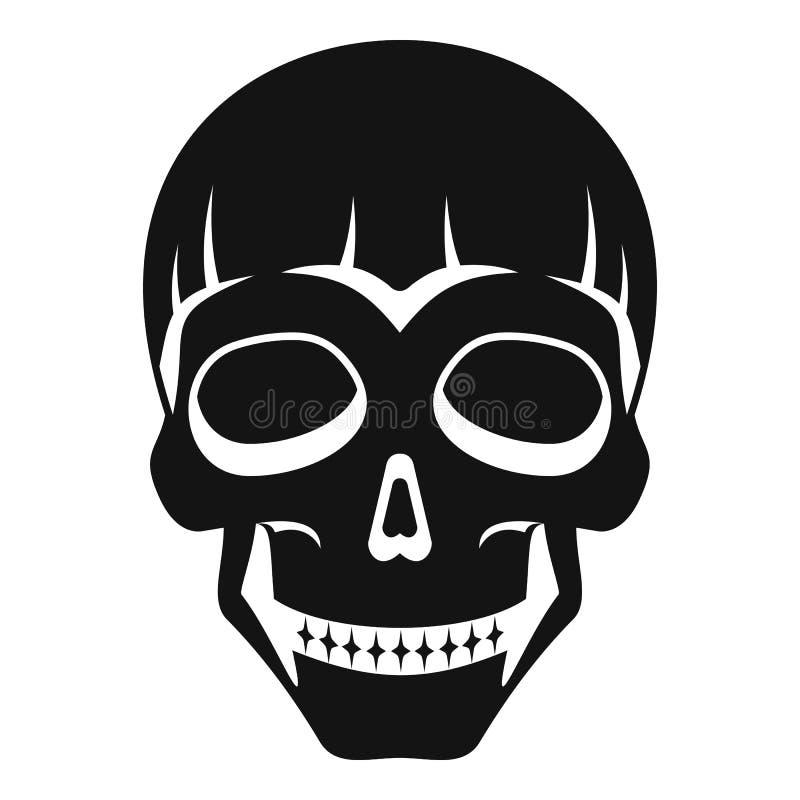 Icono principal sonriente del cráneo, estilo simple libre illustration