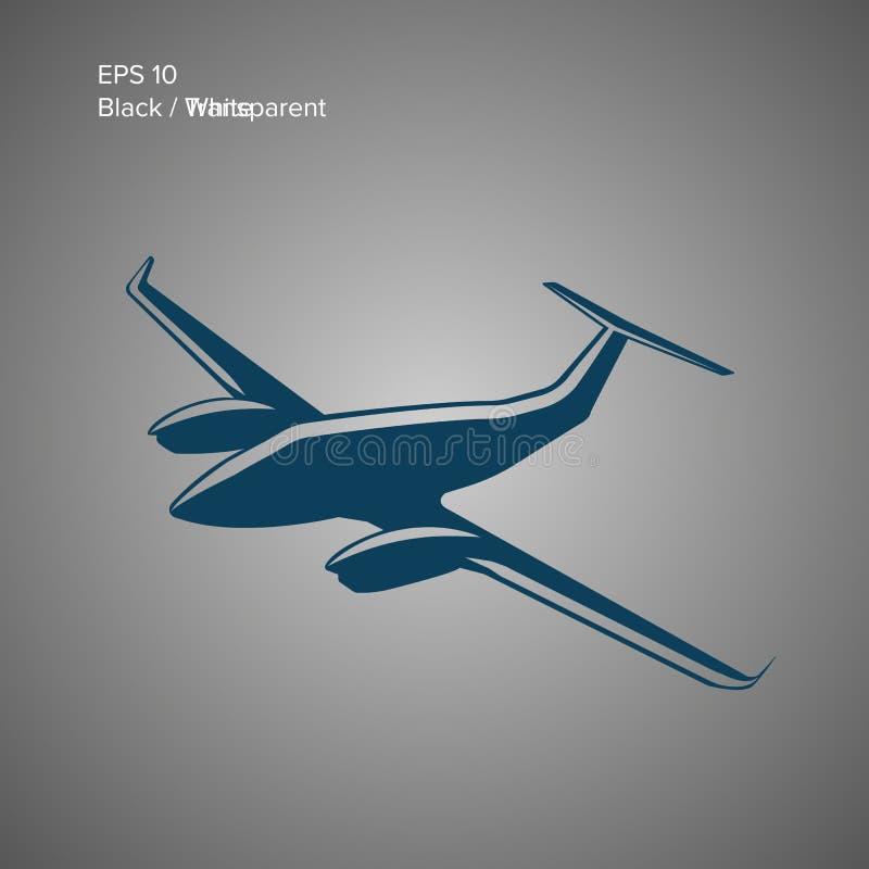 Icono privado del ejemplo del vector plano Aviones gemelos del motor País del movimiento del color de los busines del Internet de libre illustration