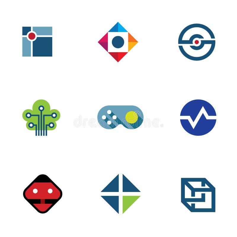 Icono profesional del logotipo de las ideas de la diversión de la comunidad de la compañía del juego del desarrollador de las TIC stock de ilustración