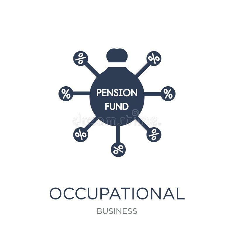 Icono profesional del plan de pensiones Vector plano de moda Occupationa libre illustration