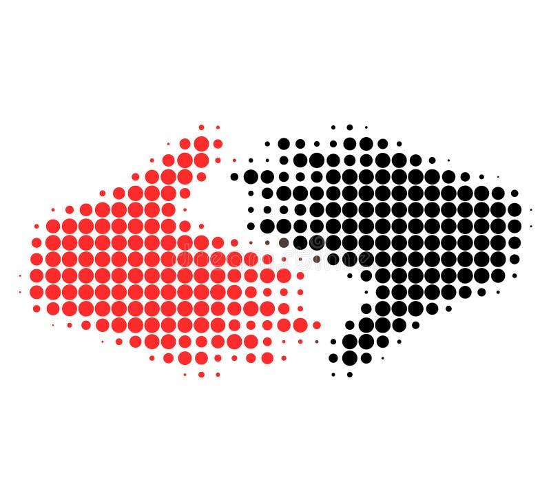 Icono punteado de semitono comercial justo del apretón de manos stock de ilustración