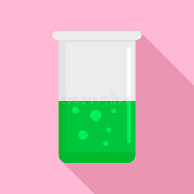 Icono químico del pote, estilo plano libre illustration