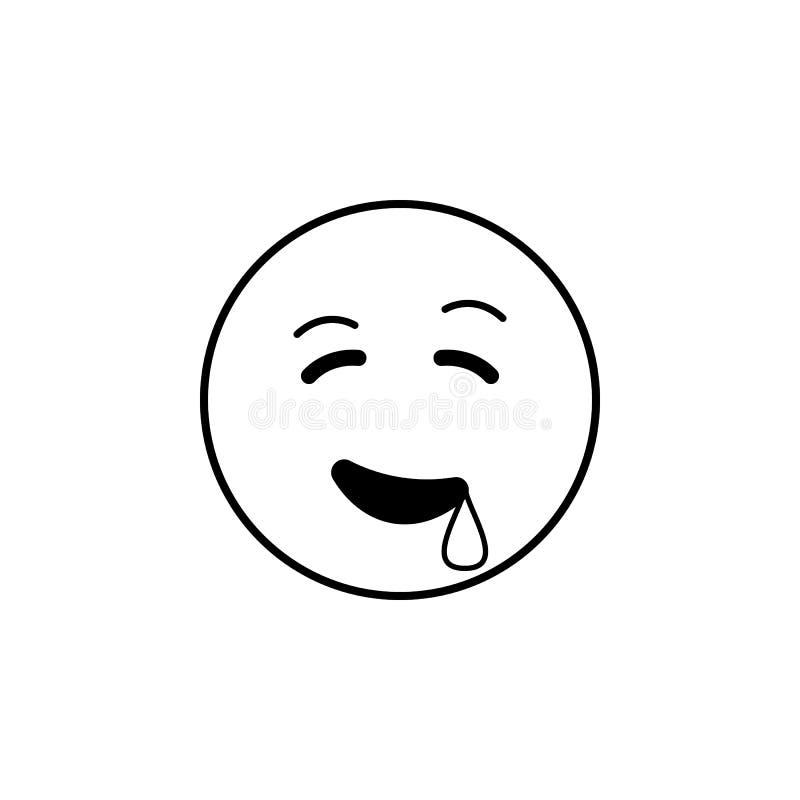 icono que babea Sistema detallado de avatares de los iconos de las profesiones Línea superior diseño gráfico de la calidad Uno de stock de ilustración
