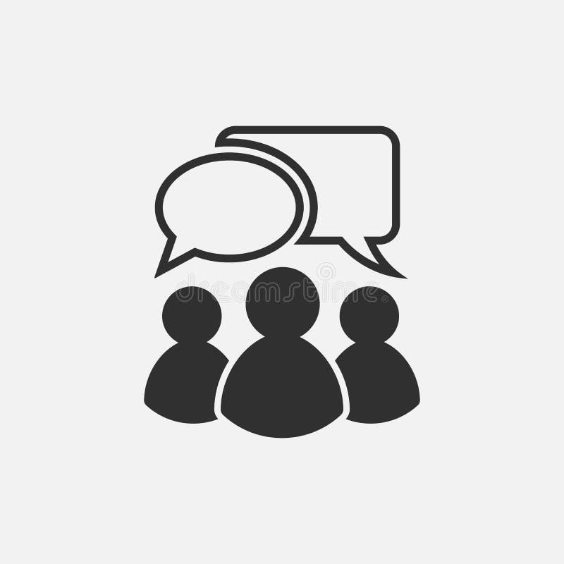 Icono que habla de la gente Aislado en el fondo blanco Ilustración del vector stock de ilustración