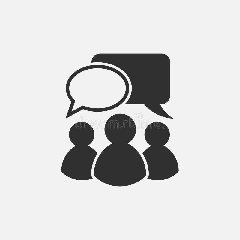 Icono que habla de la gente Aislado en el fondo blanco Ilustración del vector ilustración del vector