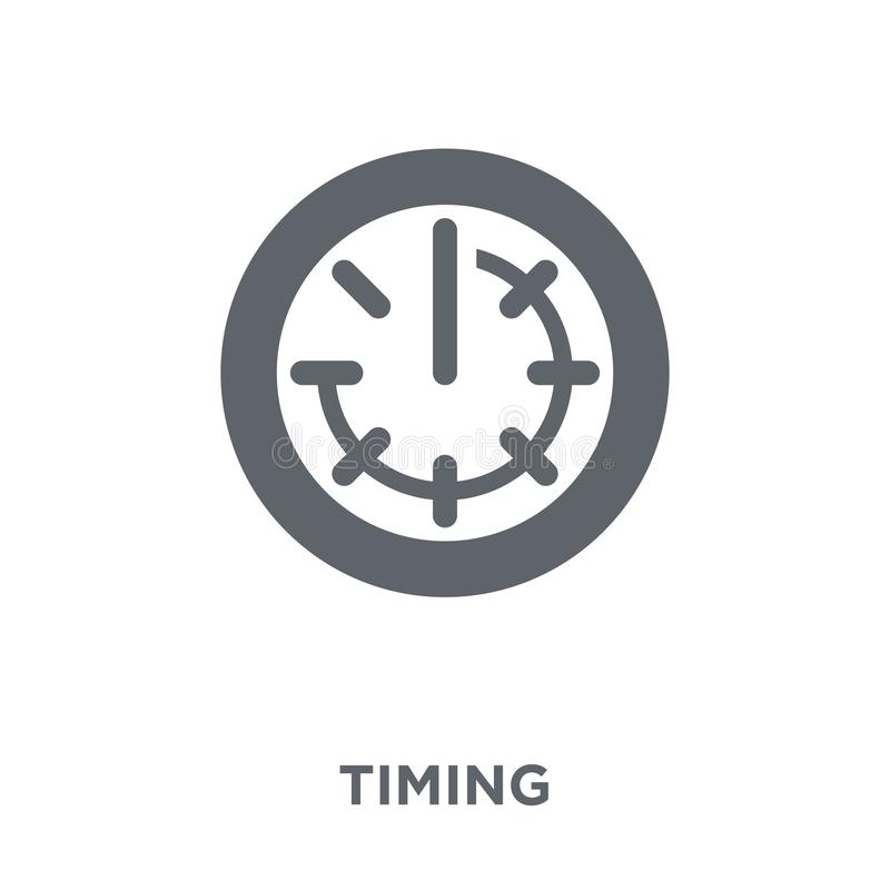 Icono que mide el tiempo de la colección del managemnet del tiempo ilustración del vector