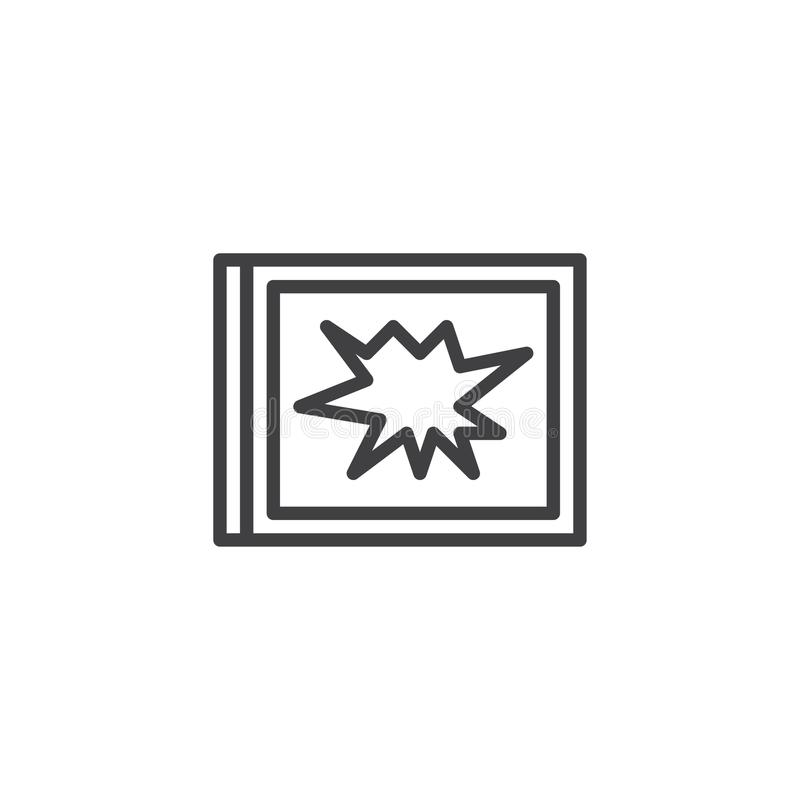 Icono quebrado del esquema de la ventana stock de ilustración