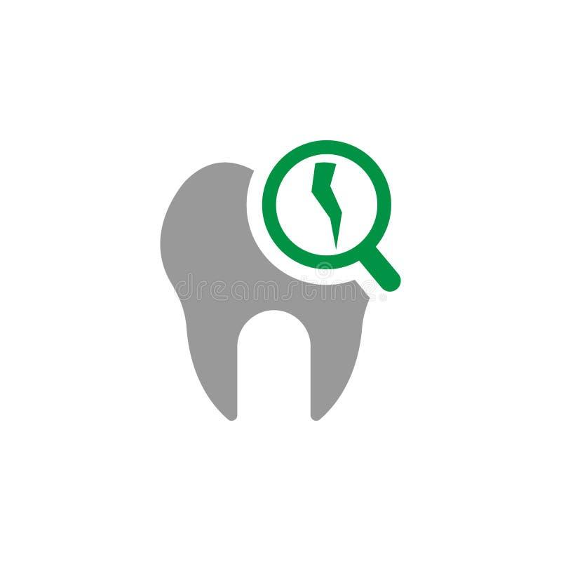 Icono quebrado y del decaimiento Elemento del icono del cuidado dental para los apps móviles del concepto y de la web Detallado e libre illustration