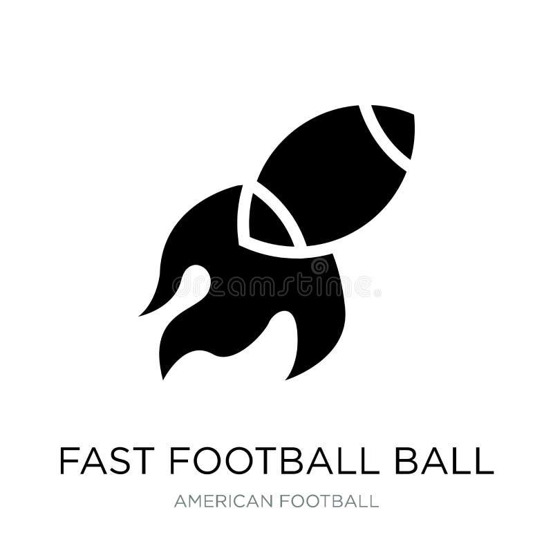 icono rápido de la bola del fútbol en estilo de moda del diseño Icono rápido de la bola del fútbol aislado en el fondo blanco vec ilustración del vector