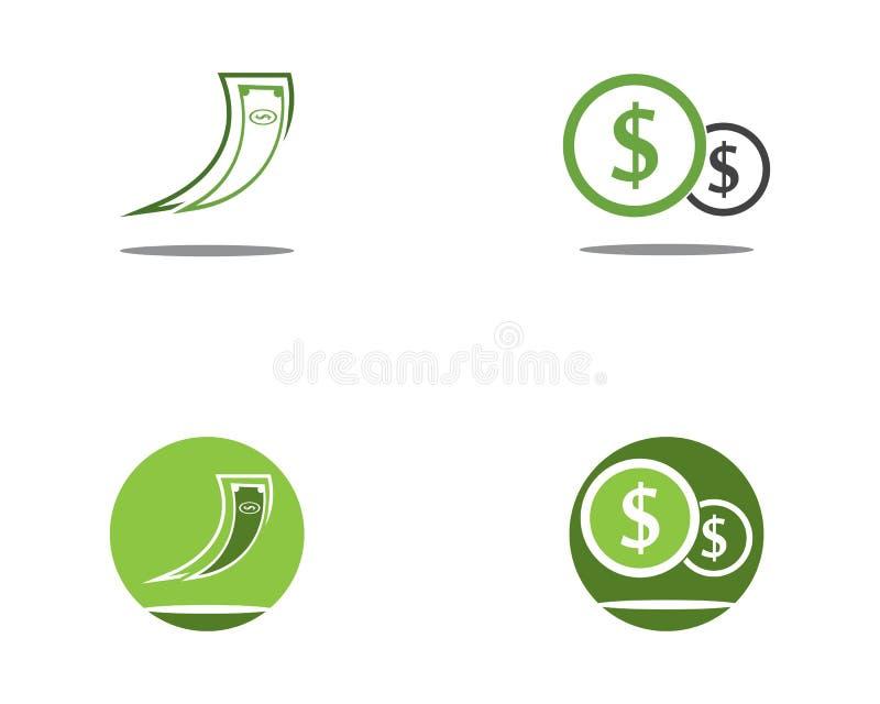 Icono rápido del vector del logotipo del dinero ilustración del vector