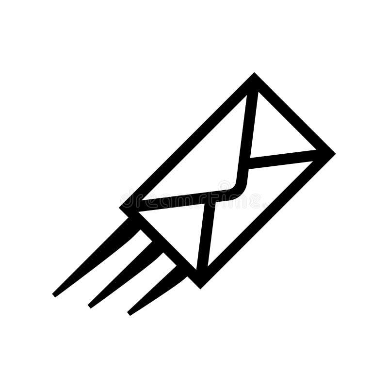 Icono r?pido del correo aislado en el fondo blanco stock de ilustración