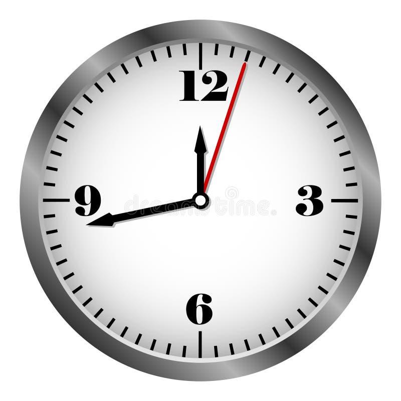 Icono real del reloj del metal ilustración del vector
