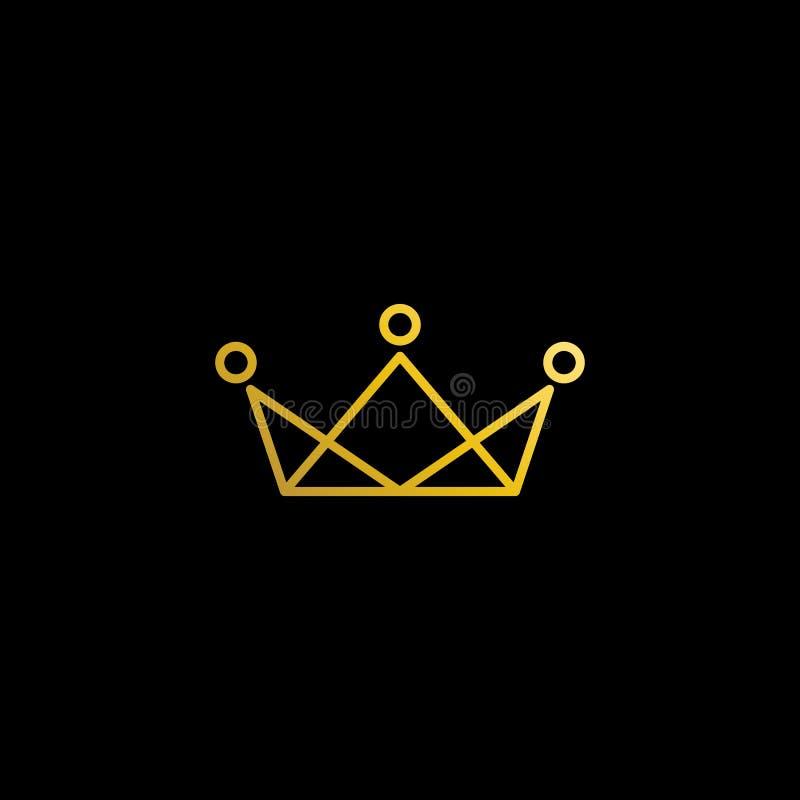 Icono real moderno simple ?nico Logo Symbols de la corona stock de ilustración