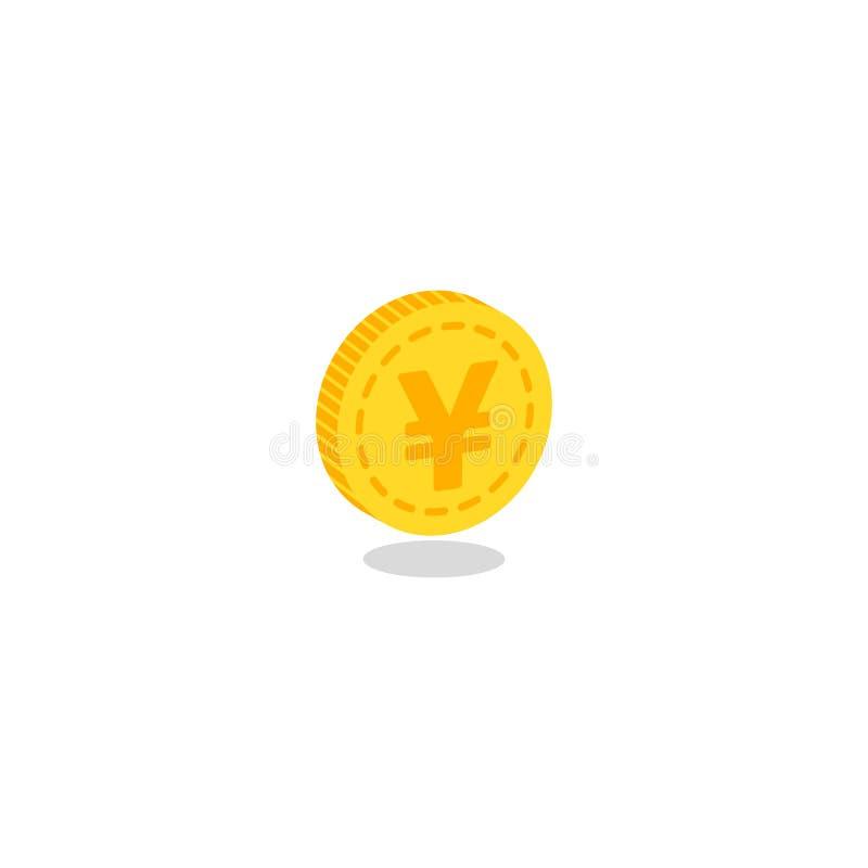Icono realista de la moneda de oro stock de ilustración