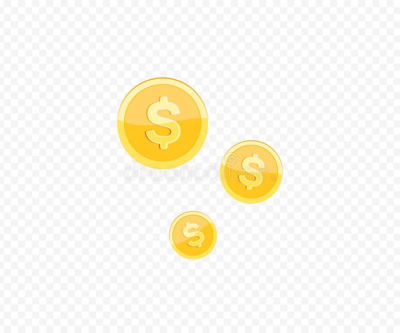 icono realista de la moneda de oro 3d libre illustration