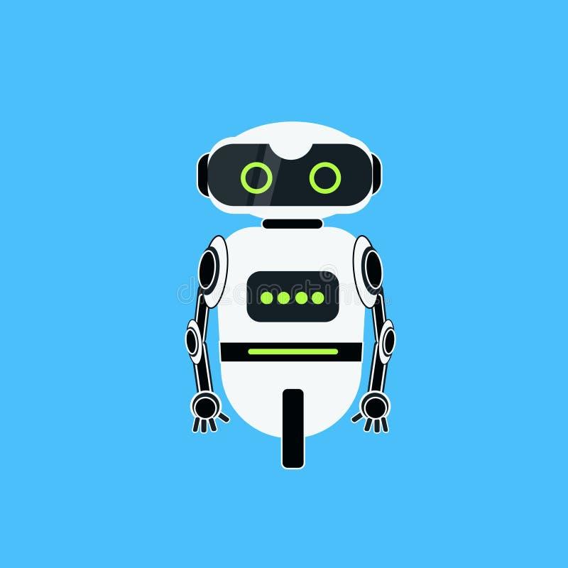 Icono realista del carácter robótico de la historieta del robot libre illustration