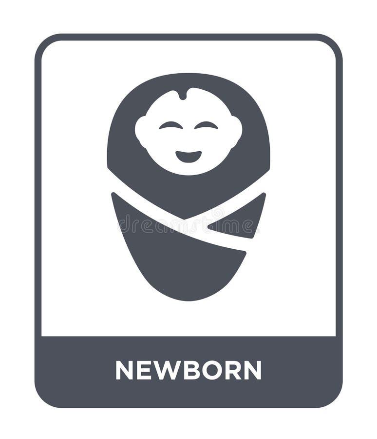 icono recién nacido en estilo de moda del diseño icono recién nacido aislado en el fondo blanco símbolo plano simple y moderno de libre illustration