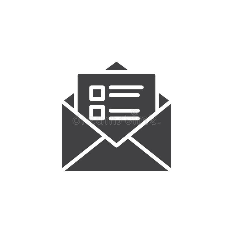 Icono recibido del vector del mensaje libre illustration